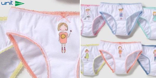 Pack de 6 braguitas para niña chollo en AliExpress Plaza