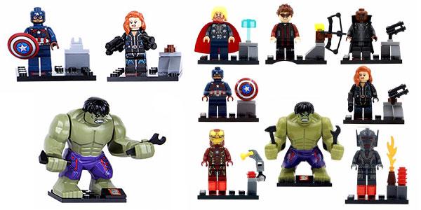 Pack de 8 figuras Vengadores de tipo lego rebajado