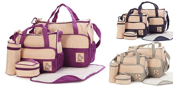 Pack 5 bolsos de maternidad en varios colores