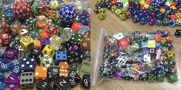 Pack 100 dados para juegos de mesa y rol