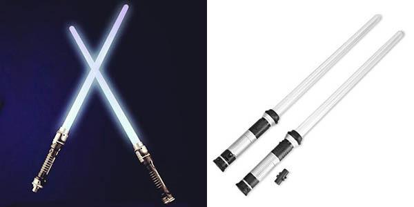 Pack 2 Espadas Láser tipo Star Wars con luz y sonido