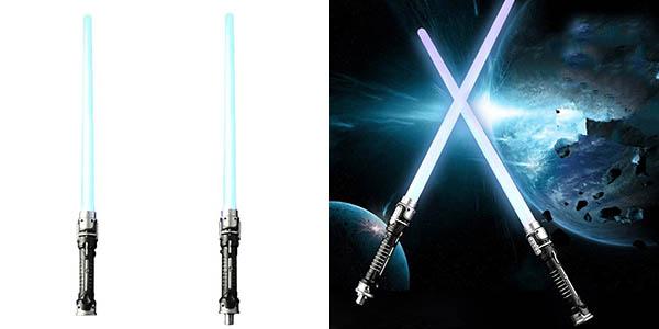 Espadas láser Star Wars con luz LED y sonido