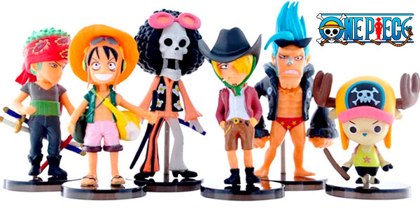 Pack de 6 figuras de One Piece barato