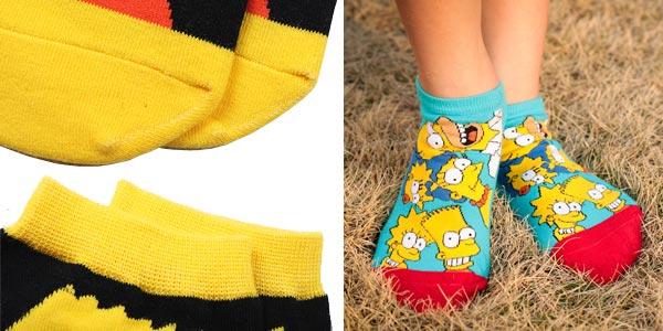 Pack 4 Pares de Calcetines tobilleros de Los Simpsons para mujer chollazo en AliExpress