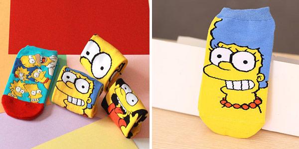 Pack 4 Pares de Calcetines tobilleros de Los Simpsons para mujer baratos en AliExpress