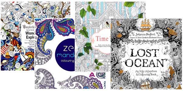 Pack de 4 libros de mandalas para pintar baratos en AliExpress