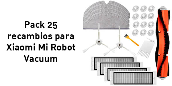 Set de 25 recambios para robot aspirador Xiaomi Mi Robot Vacuum