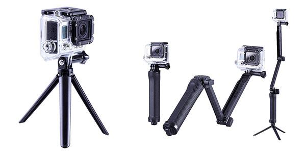 Palo de selfie 3 en 1 para cámara deportiva