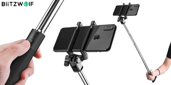 Palo Selfie BlitzWolf BW-BS6 con disparador Bluetooth barato en BangGood