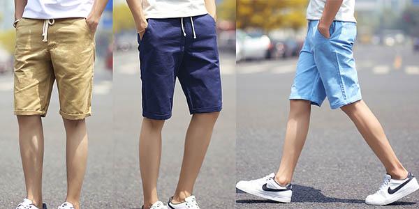 Pantalones cortes para hombre