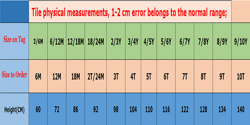 Tallas y medidas pantalones cortos para niño