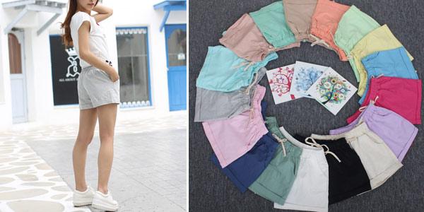 Pantalón corto estampado para mujer chollazo en AliExpress
