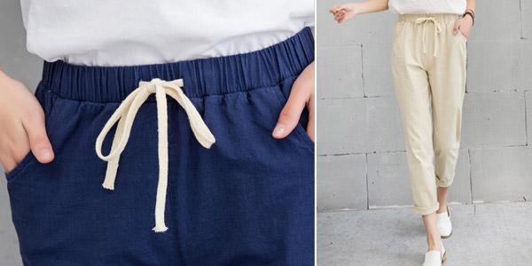 Pantalón tobillero para mujer chollo en AliExpress