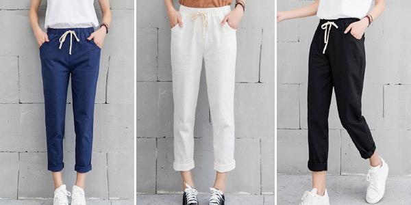 Pantalón tobillero para mujer barato en AliExpress