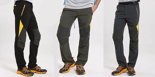 Pantalones de senderismo Facecozy para hombre
