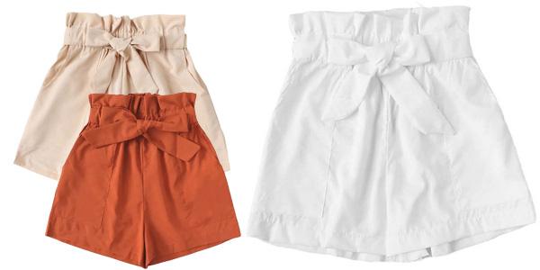 Pantalones cortos de tiro alto para mujer chollo en AliExpress