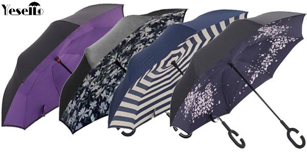 Paraguas de cierre invertido chollazo en AliExpress