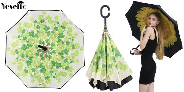 Paraguas de cierre invertido barato en AliExpress