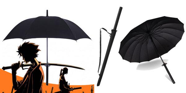 Paraguas Katana para hombre chollazo en AliExpress