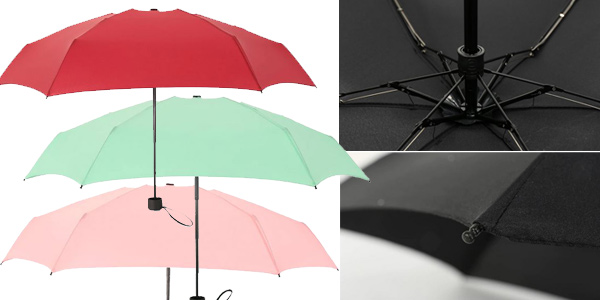 Mini paraguas plegable chollo en AliExpress