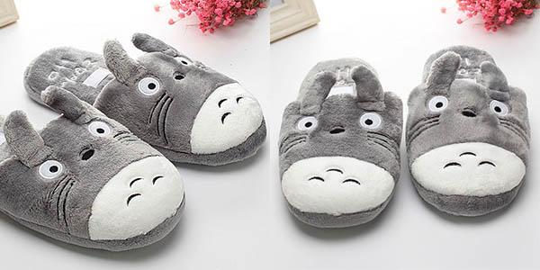 Zapatillas de estar por casa de Totoro