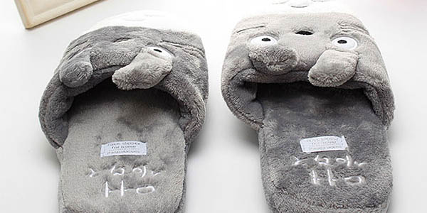 Zapatillas de estar por casa de Totoro baratas