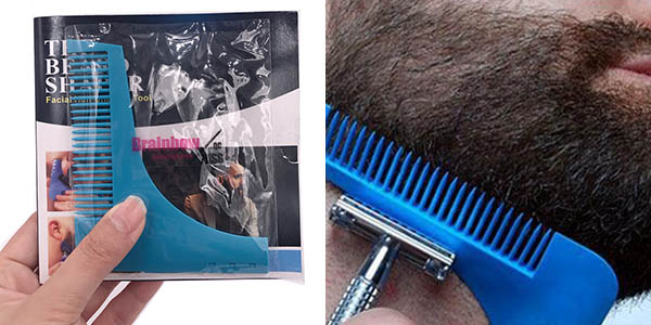 Peine con plantilla para barba