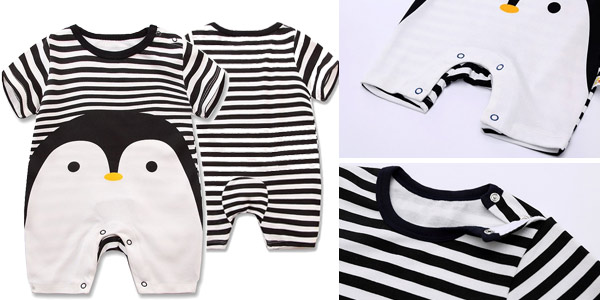 Pelele veraniego de algodón 100% para bebé chollo en AliExpress
