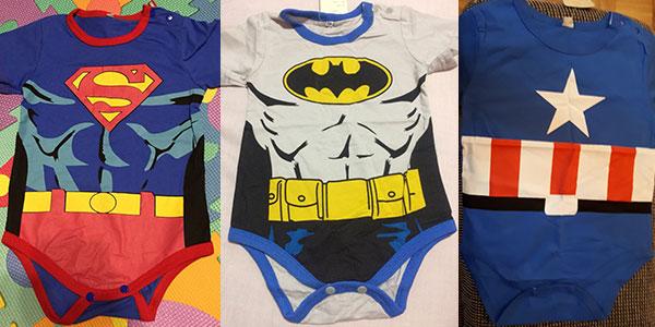 Pelele de algodón con diseño de superhéroes para bebés barato