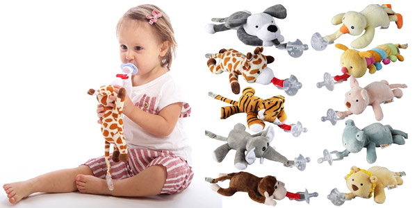 Peluche portachupetes para bebé barato en AliExpress