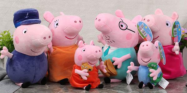 Peluches familia Peppa Pig baratos