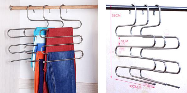 Perchas múltiples para camisas o pantalones chollazo en AliExpress