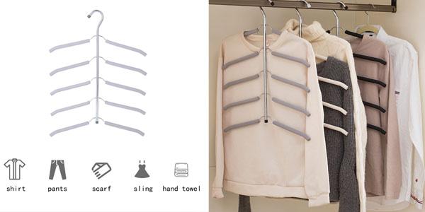 Perchas múltiples para camisas o pantalones baratas en AliExpress