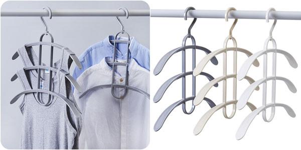 Perchas múltiples para camisas o pantalones chollo en AliExpress