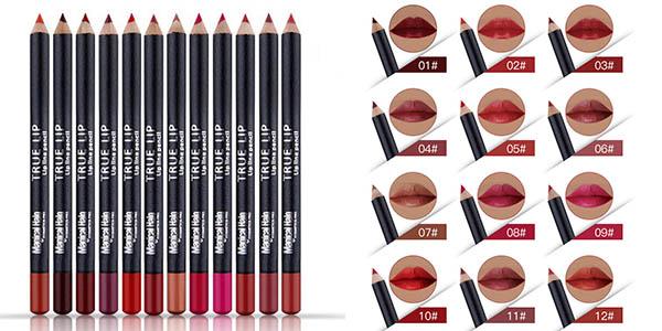 Pack 12 perfiladores de labios en varios colores