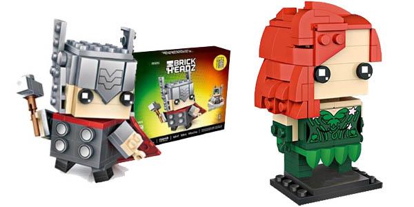 Figuras Brick Headz estilo LEGO baratas