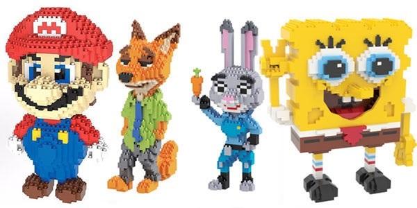 Figuras de personajes 3D tipo LEGO