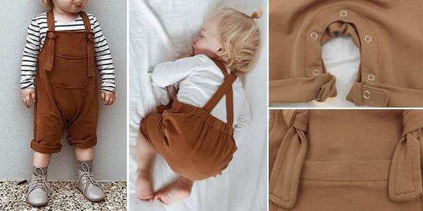 Petos con tirantes de algodón para bebé chollazo en AliExpress