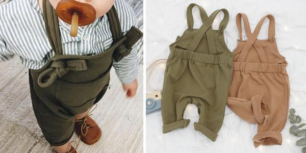 Petos con tirantes de algodón para bebé baratos en AliExpress