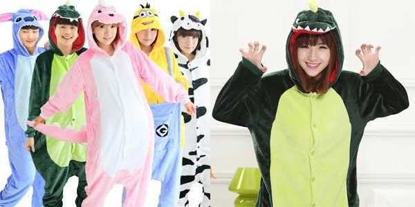 Divertidos Pijamas Mono Unisex Toonies con capucha chollo en AliExpress