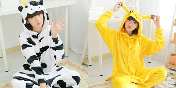 Divertidos Pijamas Mono Unisex Toonies con capucha baratos