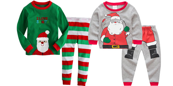 Pijamas infantiles de motivos navideños chollazo en AliExpress
