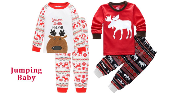 Pijamas infantiles de motivos navideños baratos en AliExpress