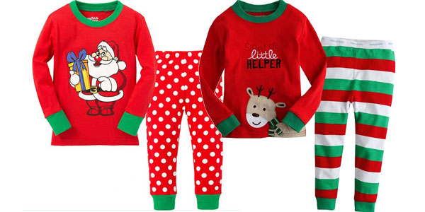 Pijamas infantiles de motivos navideños chollo en AliExpress