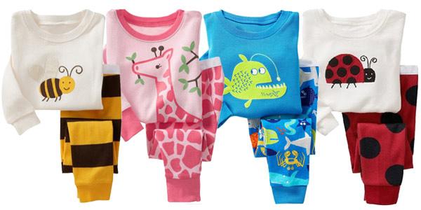 Pijamas infantiles de algodón con divertidos estampados chollazo en AliExpress
