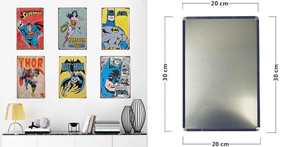 Placas metálicas de Superhéroes estilo vintage baratas