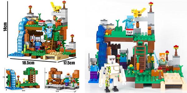 Set construcción Minecraft estilo LEGO rebajado