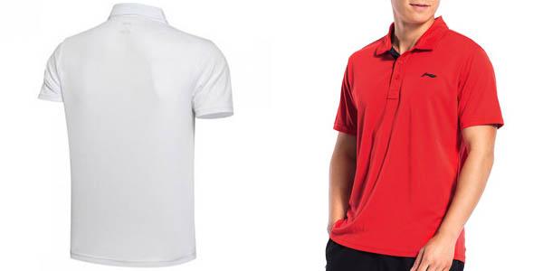 Polo sport Li-Ning rojo o blanco
