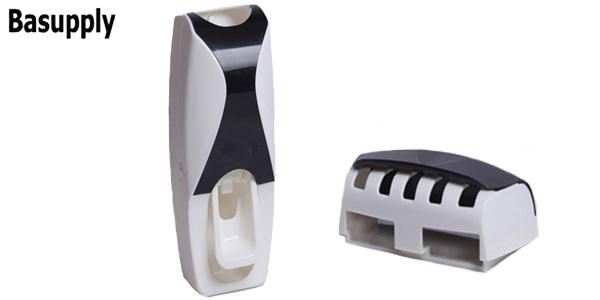 Portacepillos de dientes y dispensador de pasta Basupply barato en AliExpress