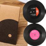 Pack x4 Posavasos discos de vinilo baratos en AliExpress